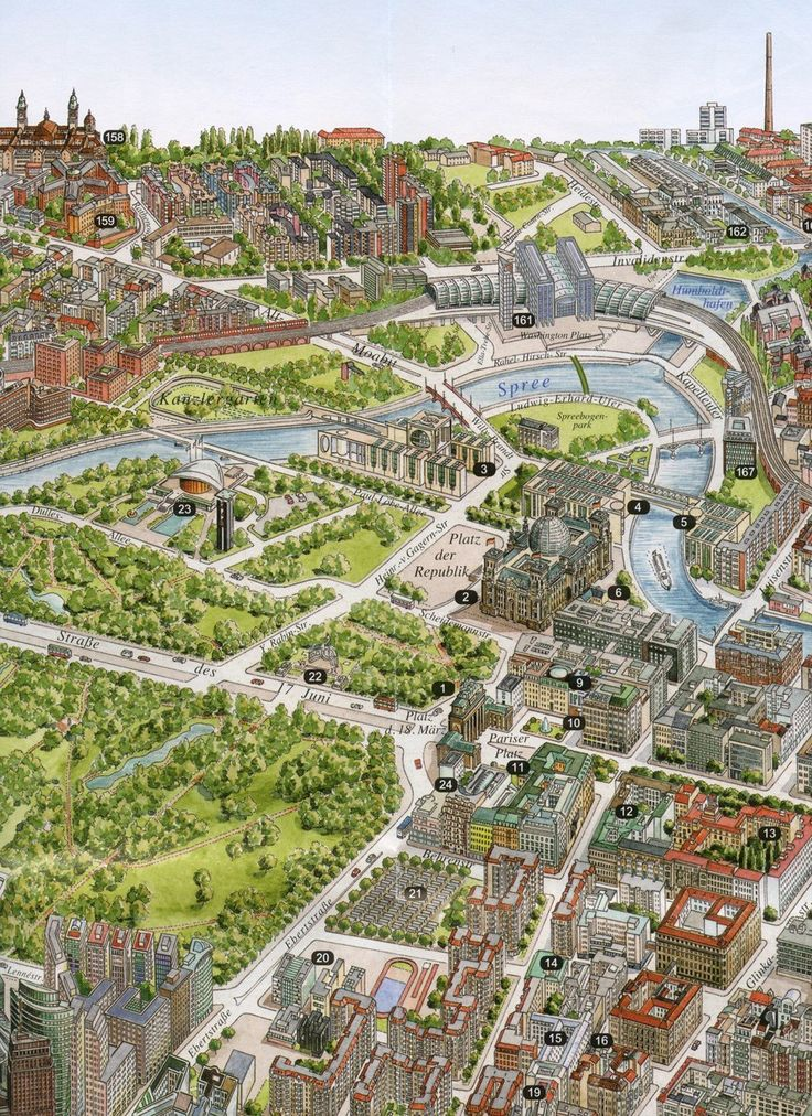 Berlin city plan from Berlin Panoramakarte & Stadtplan