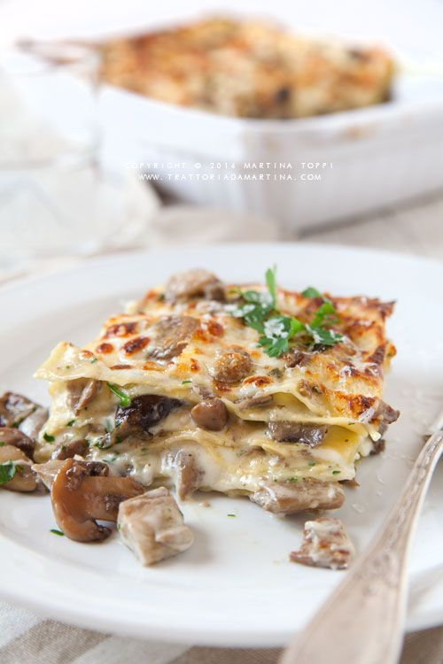 Lasagne ai funghi, es decir de Hongos.