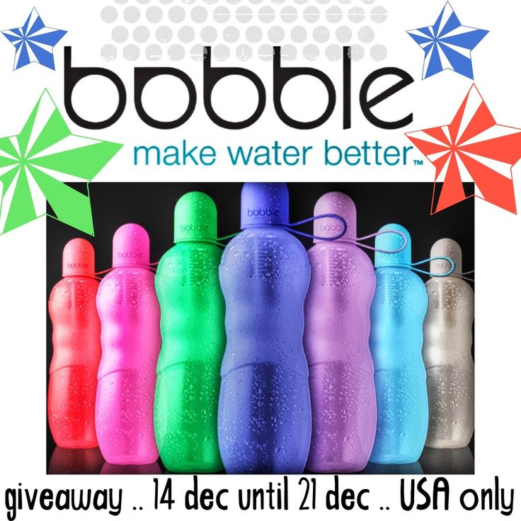 Did you enter to win a reusable water bottle with filter yet? Everyone can use this! bobble SPORT reusable water bottle giveaway,