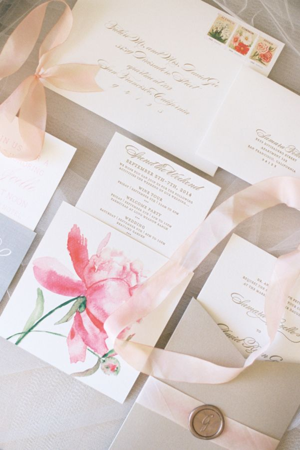 champagne blush wedding invitations%0A Elegant Blush Wedding at Beaulieu Gardens
