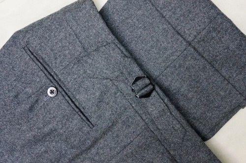Edward Sexton grey flannel suit 11 oz