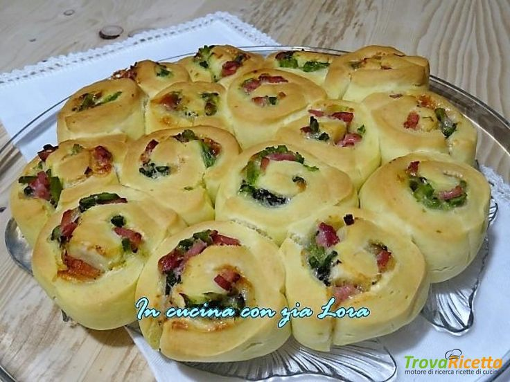 Torta di rose salata asparagi e prosciutto cotto  #ricette #food #recipes
