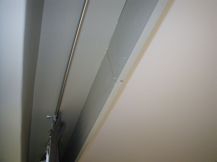 Curtains ceiling mounted rail behind a false bulkhead and for Ceiling cornice ideas