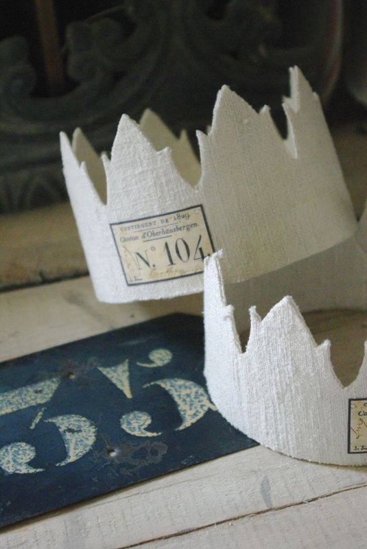 would love to use these as party hats...make with posterboard and then antique them