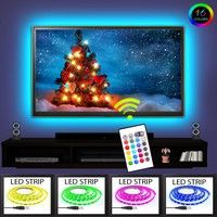 Mama | Fun A3 LED TV Backlight Kit USB Multi-color RGB Home Theater Background Accent lighting Waterproof Strip Lights for HDTV Computer and Aquarium with RF Remote Control