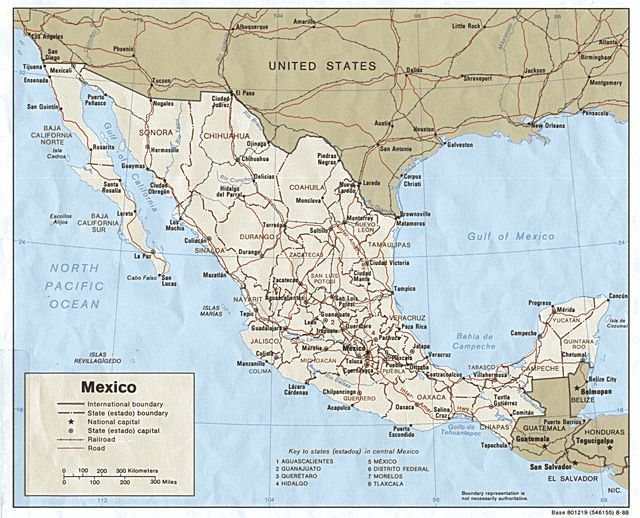 mexico map mappa