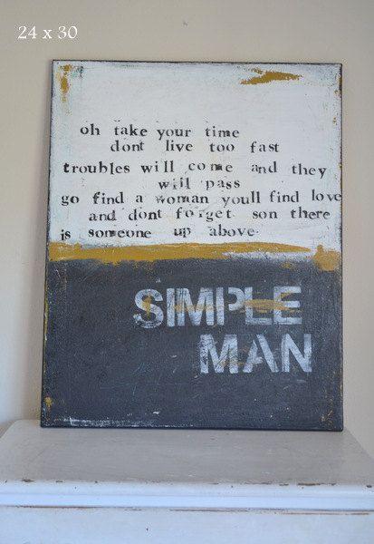 Simple Man. $180.00, via Etsy.