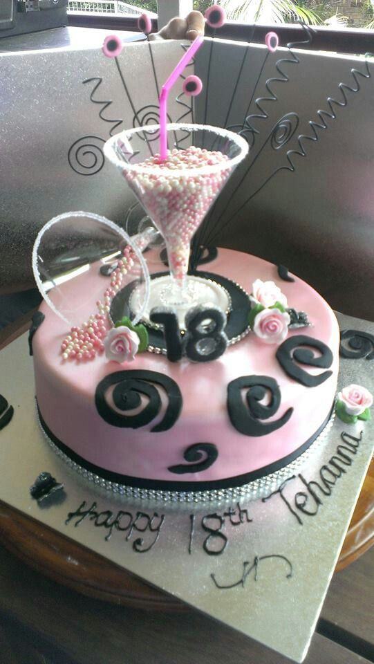 Cocktail 18th Birthday Cake Birthday Cakes 18