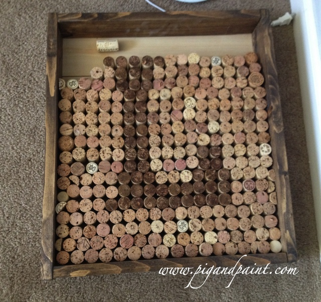 Pig and Paint: Wine Cork Monogram - the project that never ends