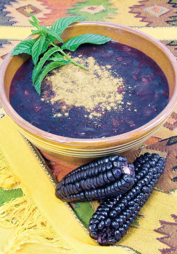 Mazamorra, a traditional Peruvian dessert made of purple corn