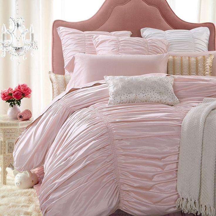 25 best ideas about light pink bedding on pinterest pink bedding rose bedroom and light pink. Black Bedroom Furniture Sets. Home Design Ideas