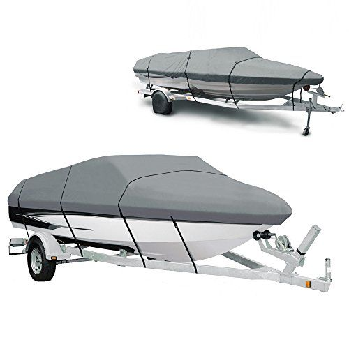 From 31.99 Ancheer Boat Cover 210d Heavy Duty Polyester Canvas Waterproof Runabout Boat Cover Fits For 14-16ft V-hull Tri-hull Fishing Ski Speedboat - Full Size With Carrying Bag