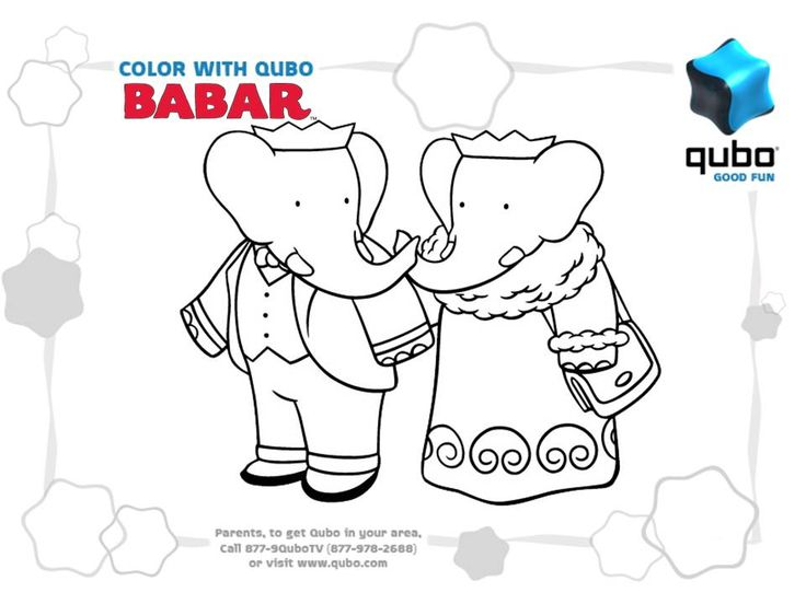 86 best Babar Coloring Pages images on Pinterest