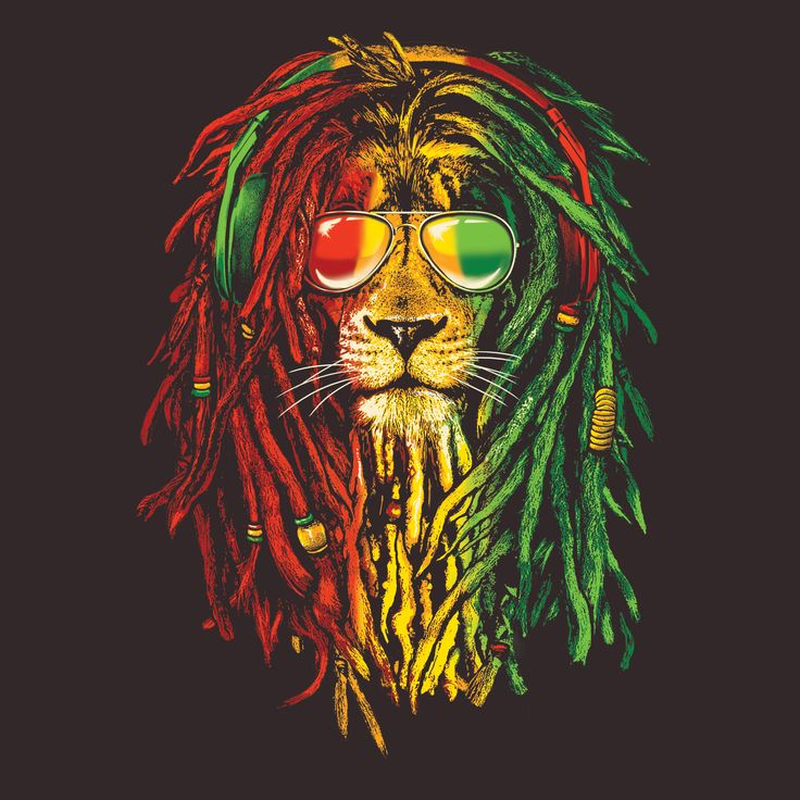 Rasta Vibe Lion T-Shirt | The Duck Company | Adult Tees