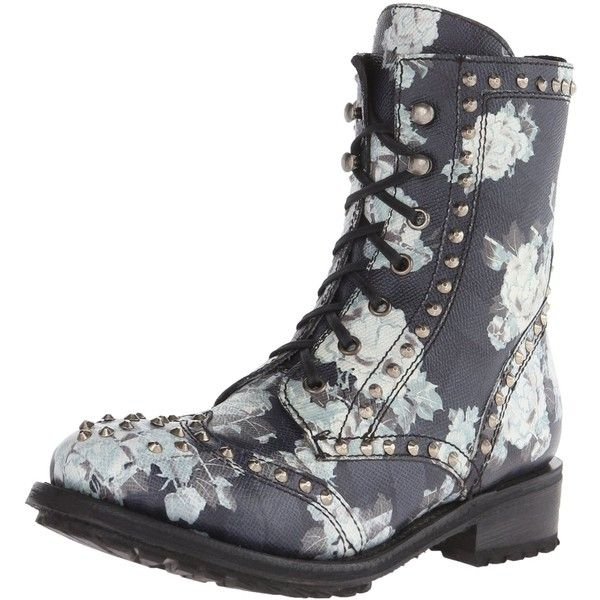 Ash Women's Rare Combat Boot ($302) ❤ liked on Polyvore featuring shoes, boots, ankle booties, punk boots, ash boots, lace up booties, studded lace up booties and combat boots