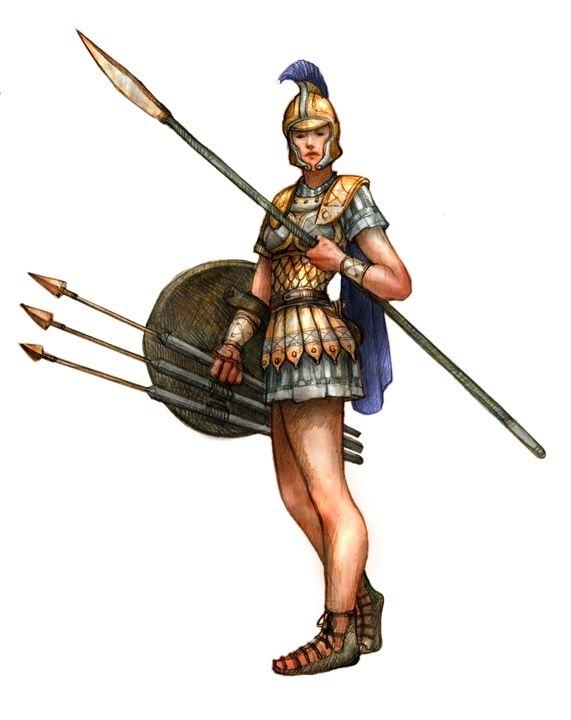 Greek Woman Warrior 18 best Peltasts in An...