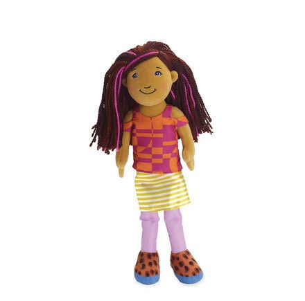 Doll - Her dark brown hair and fuchsia highlights are always turning heads. Groovy Girls Myla is always ready for a good time, whether it's a barbecue or a walk in the park. Her colorful outfit is per