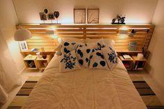 Cómo hacer una cama y un cabecero con palets facilmente   Decoración