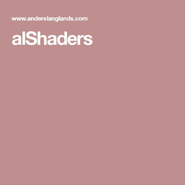 alShaders