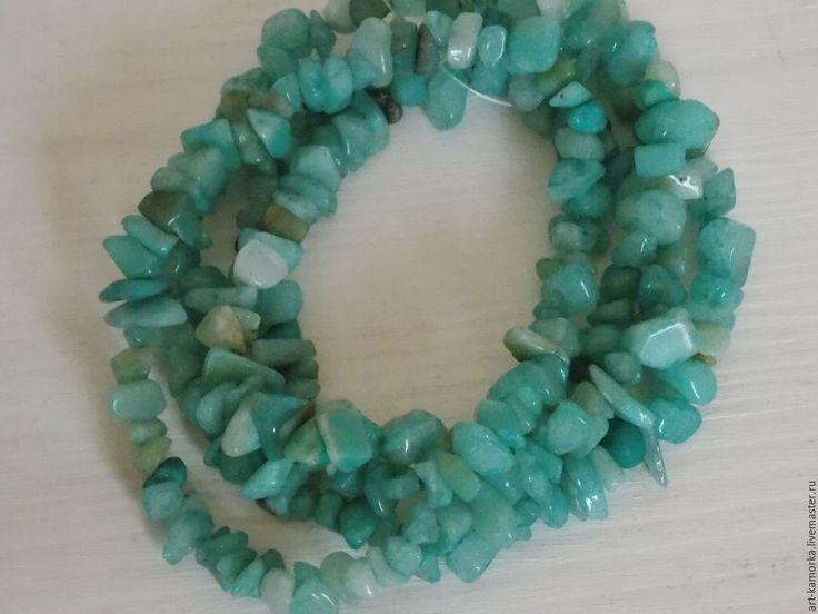 Купить Амазонит. нить 80 см. - голубой, амазонит натуральный, голубой камень, голубой кварц