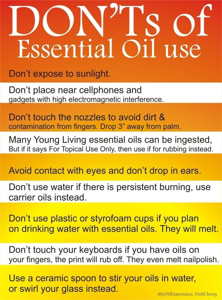 Must know's of essential oils