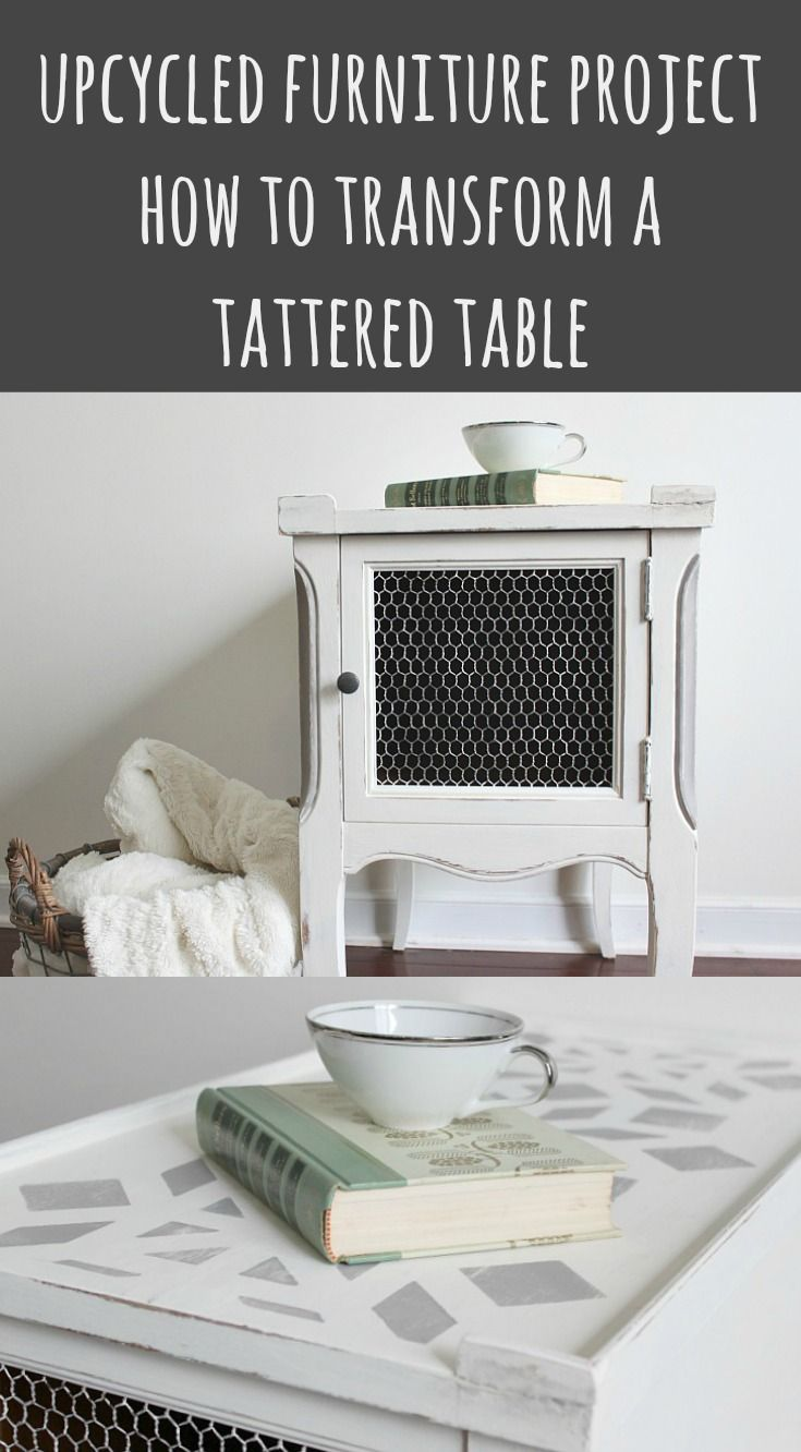 Add your own style to a thrifted and tattered tabl…