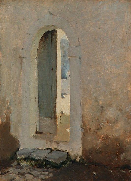 Open Doorway, Morocco / John Singer Sargent / 1879-80 / oil on wood / at the Met