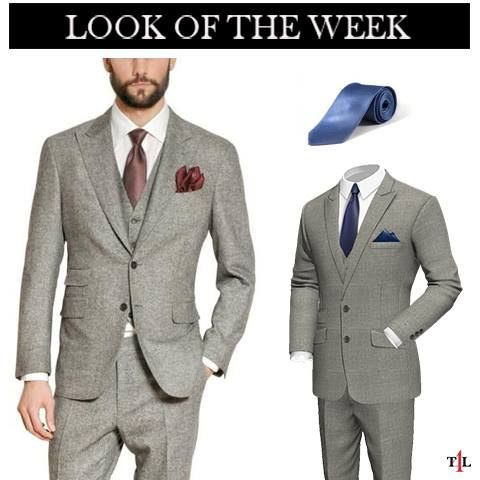 Customize your own made to measure Grey Suit and select a tie that will  combine with