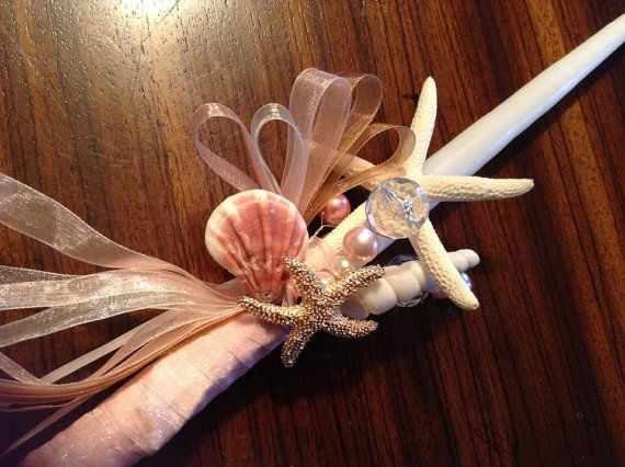 She Sells Sea Shells by the Sea Shore Greek Easter Candle on Etsy, $20.00