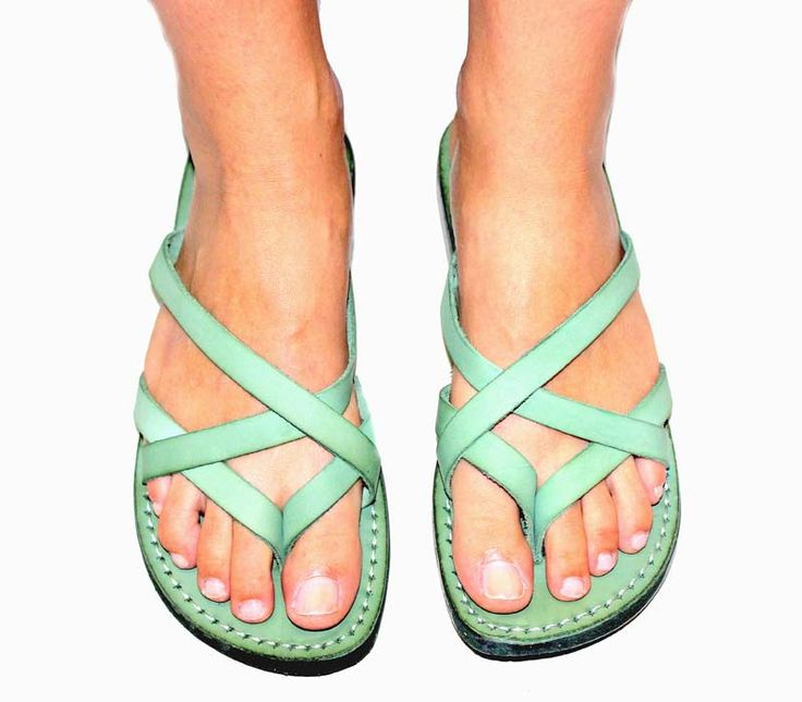Green Leather sandals | 28 | Jerusalem