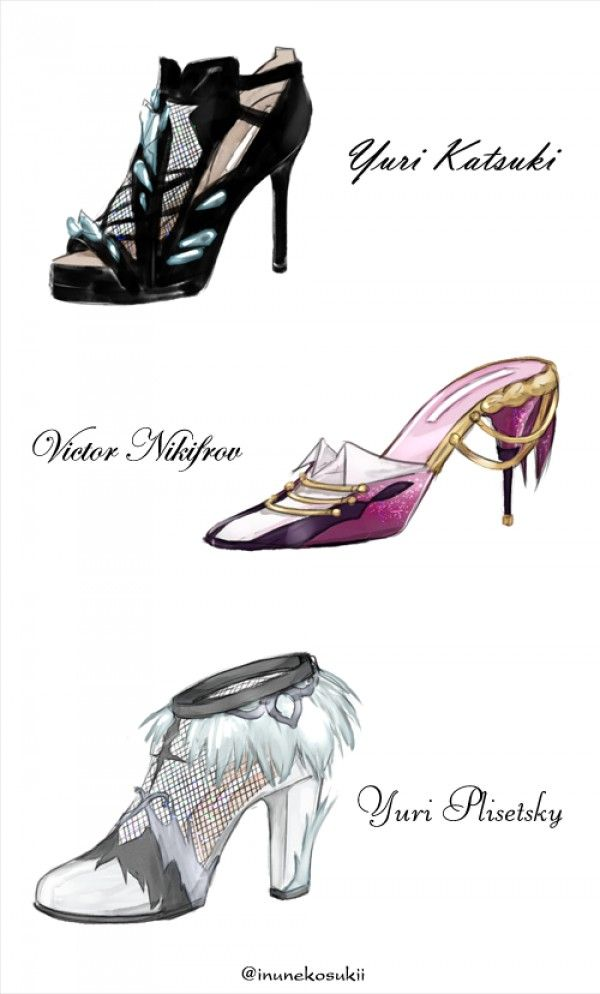 dessin chaussure mode yurionice manga