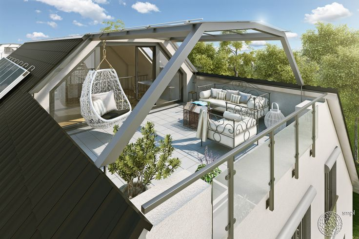 3d architektur visualisierung einer dachterrasse f r einen for Peter janke design mit pflanzen