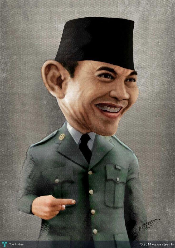 SOEKARNO - Indonesia President 1st #Creative #Art #DigitalArt @Touchtalent.com