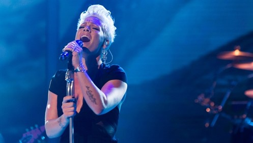 Pink performs live on the UK X Factor 2012