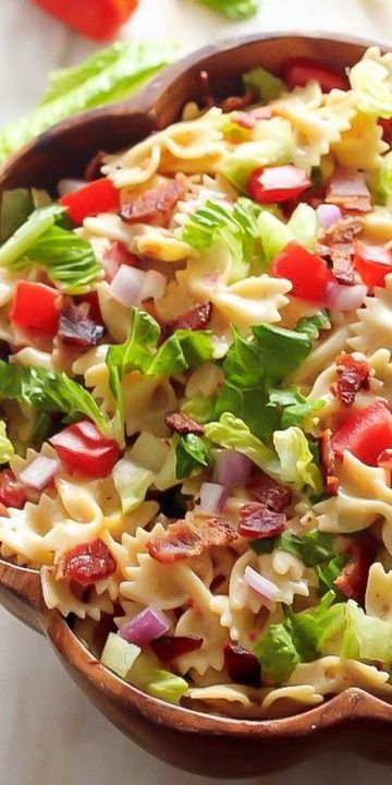 20-Minute BLT Easy Pasta Salad - Baker by Nature
