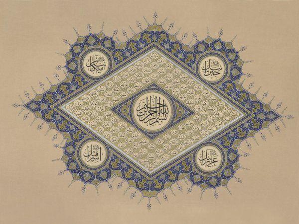 ESMA-ÜL HÜSNA Yazı Türü: Sülüs Nesih