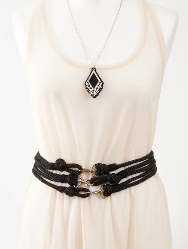 Rope Waist Belt. 10 Beautiful DIY Belts