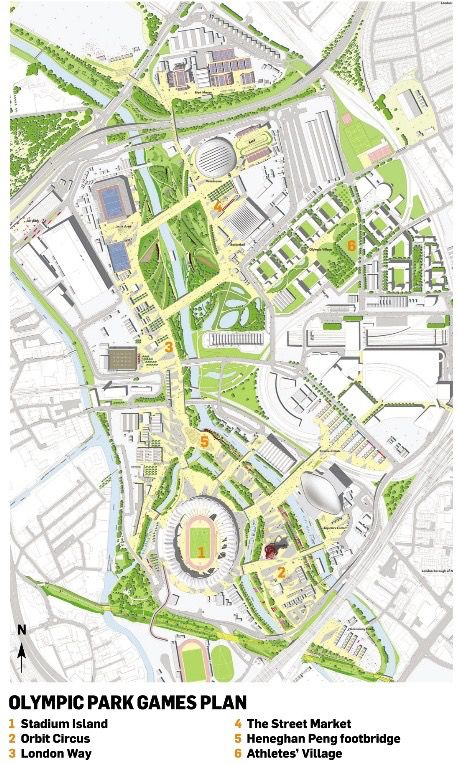 Olympic Park Plan showing layout and design (With images ...