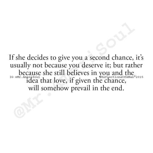 Yes... Another chance it is... Hoping you won't mess up again. Yes, AGAIN.