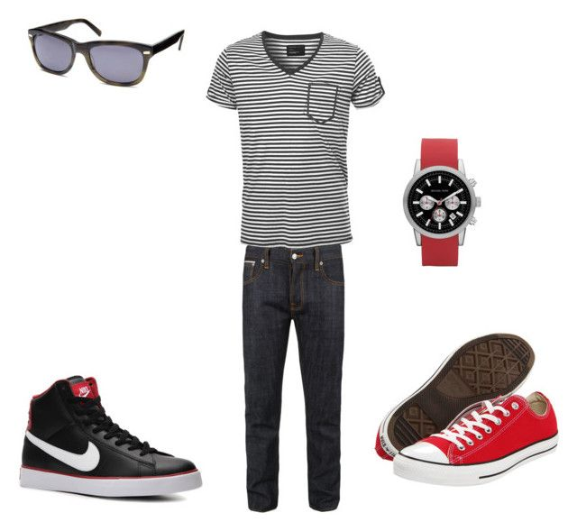 My boy by barbaranecho on Polyvore featuring SELECTED, Converse, Warby Parker, Nudie Jeans Co., NIKE and Michael Kors