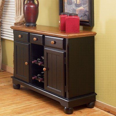 A-America BRI-OB-9-01-0 British Isles Server Finish: Honey Espresso by A-America. $675.40. Finish: Espresso. Casual contemporary style. Three drawers. Two open shelves. Bun feet. BRI-HE-9-01-0 Finish: Honey Espresso Features: -Server.-Solid hardwood.-Two-tone server oak and black.-Sides veneered over plywood.-Storage for wine bottles.-Storage for wine glasses.-Two drawers for extra storage.-Two doors for hidden storage.-Beautiful bun feet on cabinet. Color/Finish: -Oak and...