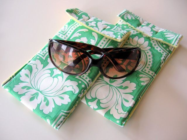Sunglasses case tutorial from My Blonde Ambitions - adorable and simple to make!