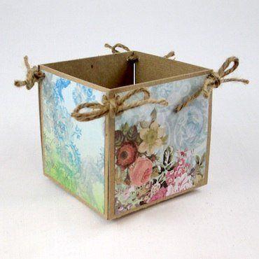 Коробочка для мелочей из картона