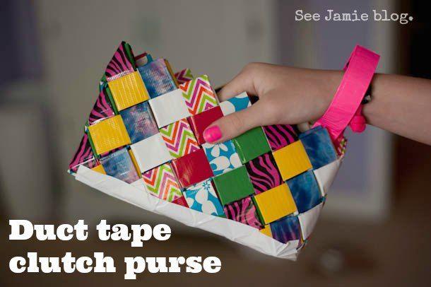 Duct Tape Clutch Purse