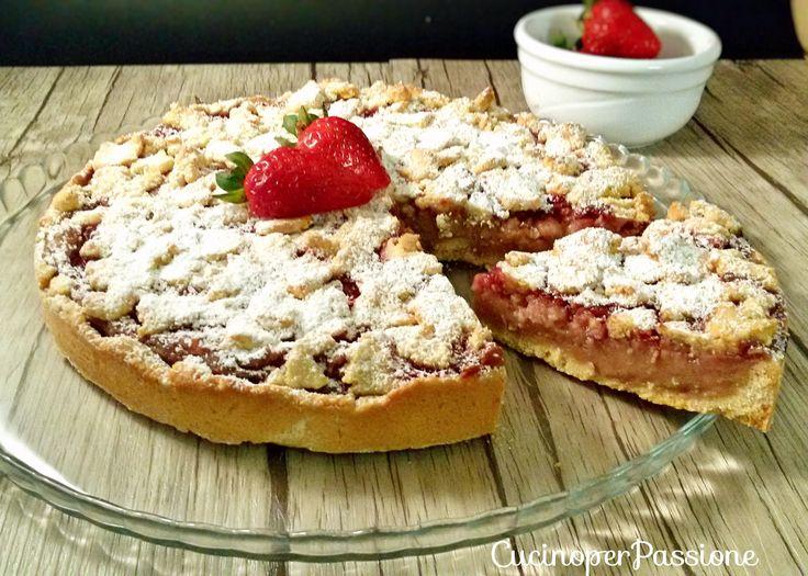 Torta+alla+fragola+vegan+gustosa+e+light