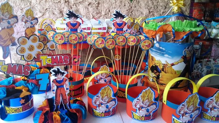 dragon ball z birthday party supplies buscar con google