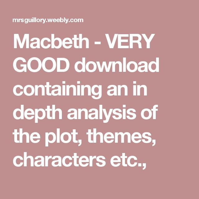 thematic analysis macbeth Macbeth: essay topics 1) the supernatural plays an important role in macbethto what extent does it motivate macbeth's actions 2) discuss king duncan and examine what contribution he makes.