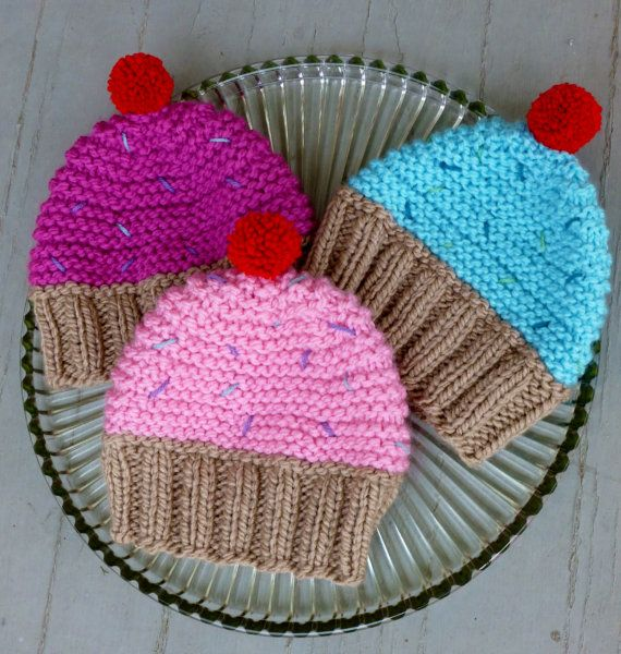 Knit Cupcake Hat Knit Toddler Hat Knit Toddler by BoPeepsBonnets, $24.00