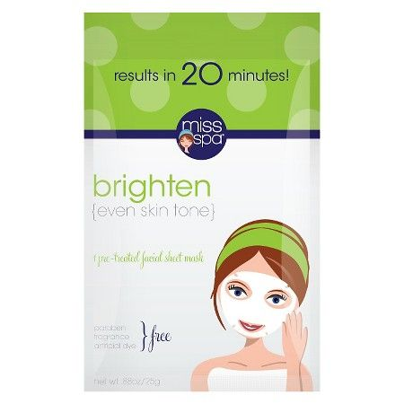 Miss Spa Facial Sheet Mask Brighten Trial Size -... : Target