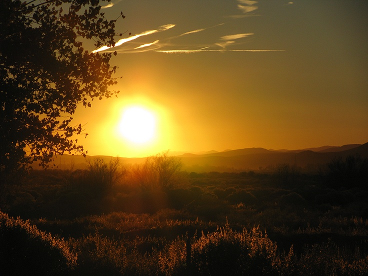 Hazy Sunset in Fallon, NV during Autumn 2008  (c) Ashlee Pargett (self)